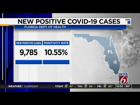 More than 9,750 new coronavirus cases reported in Florida