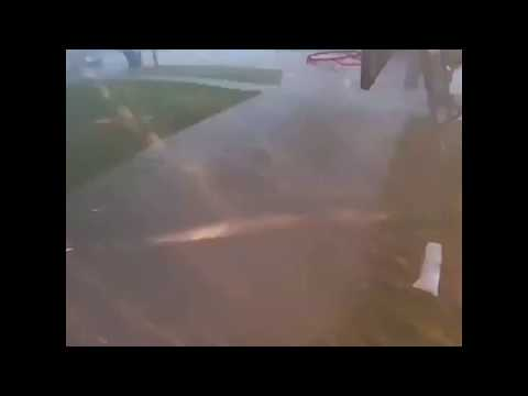 Strong winds blow trash cans down street in Kansas | ABC News
